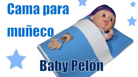 cama para muñecos con foamy