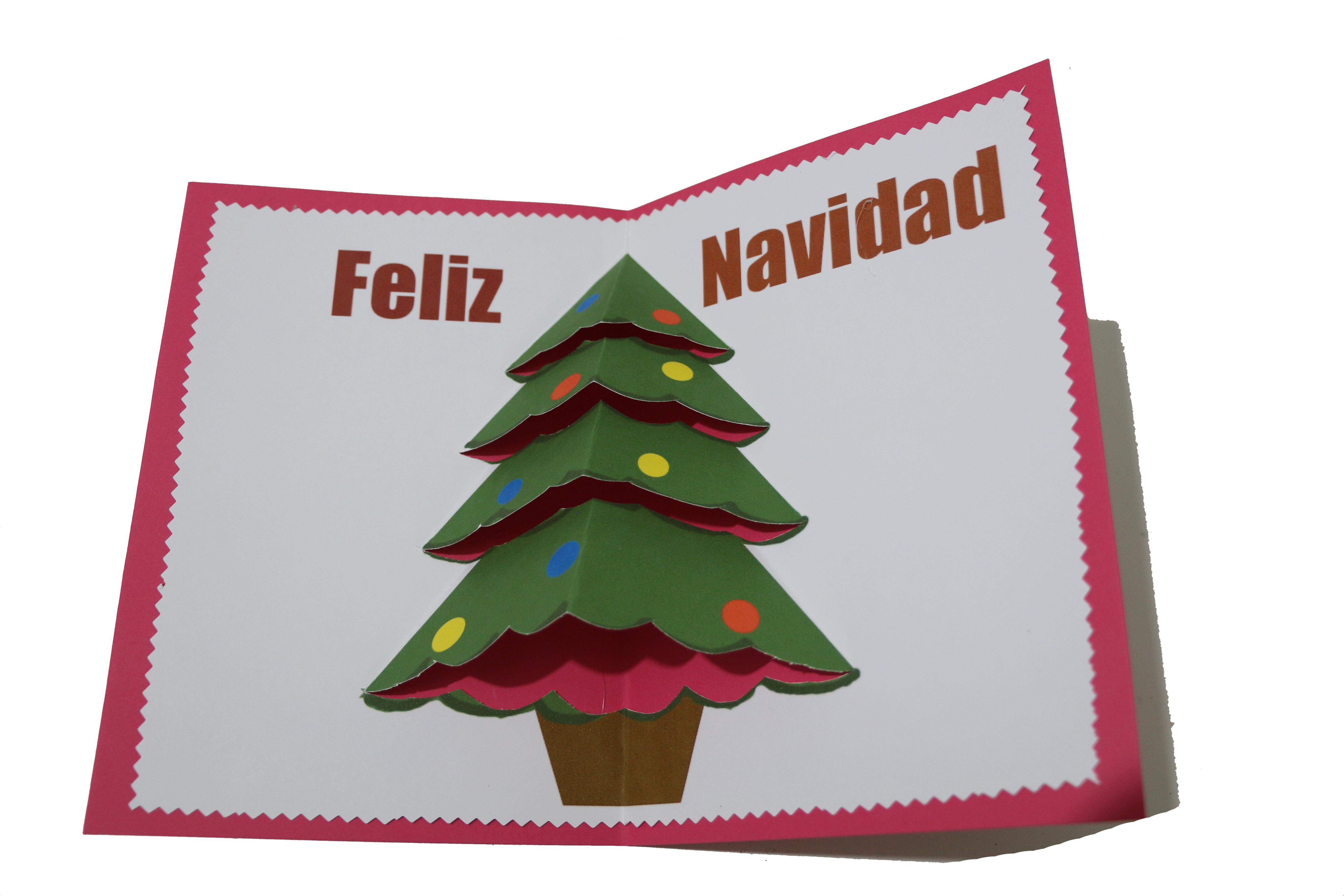christmas de navidad con relieve - Tarjeta De Navidad En 3d