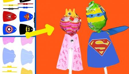 chupa chups de princesas o superhéroes