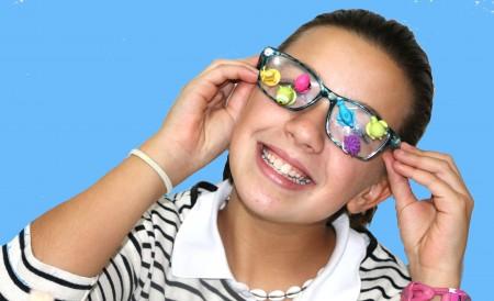 Los Stikeez de lidl se pegan en las gafas