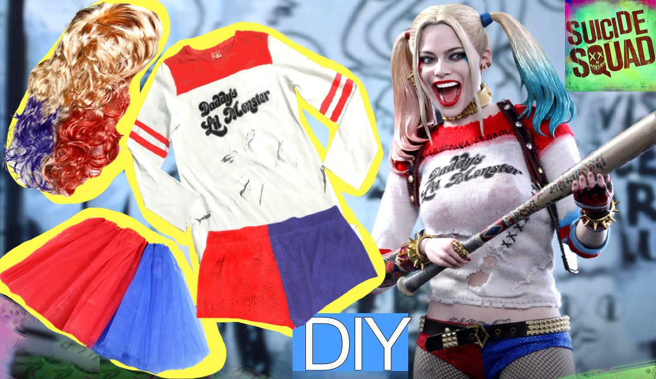 4 Técnicas para estampar camisetas. Camiseta de Harley Quinn de Halloween