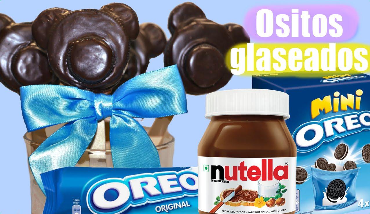 Piruletas de Oreo y Nutella con forma de osito, muy fáciles